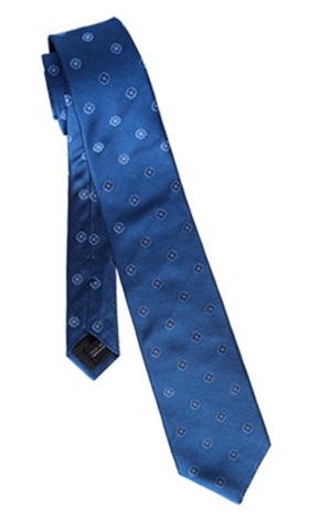 FRANCO SPADA Navy Silk Polka dots