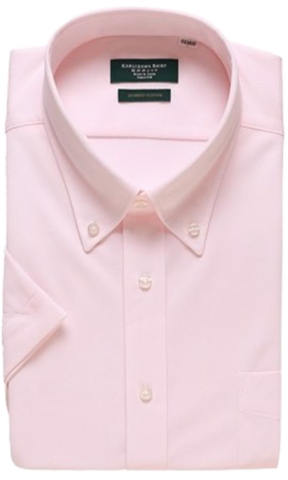 Karuizawa Hybrid Sensor Button Down Pink Plain