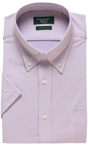 KARUIZAWA Hybrid Sensor Button Down Pink Stripe