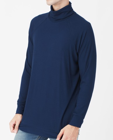 ÁO THUN NAM ROLL NECK JUMPER (NAVY)
