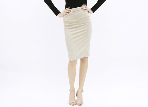 VÁY PENCIL SKIRT (BEIGE)