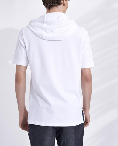 ÁO THUN NAM HOODED POLO SHIRT (WHITE)