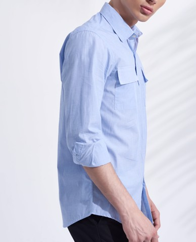 ÁO SƠ MI NAM CHEST POCKET SHIRT (SKY)