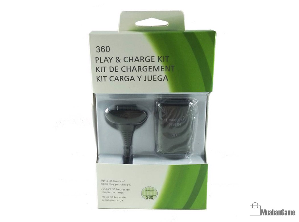Pin XBox360 Battery with USB Charge Cable