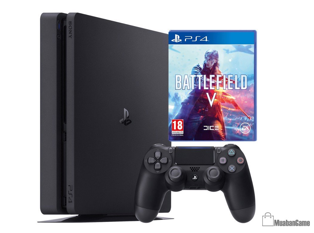 Máy PS4 Slim 1TB [Battlefield V] COMBO