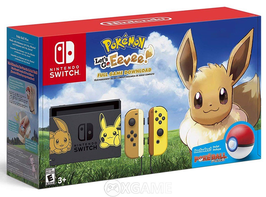 Máy Switch Pokemon: Let's Go Eevee