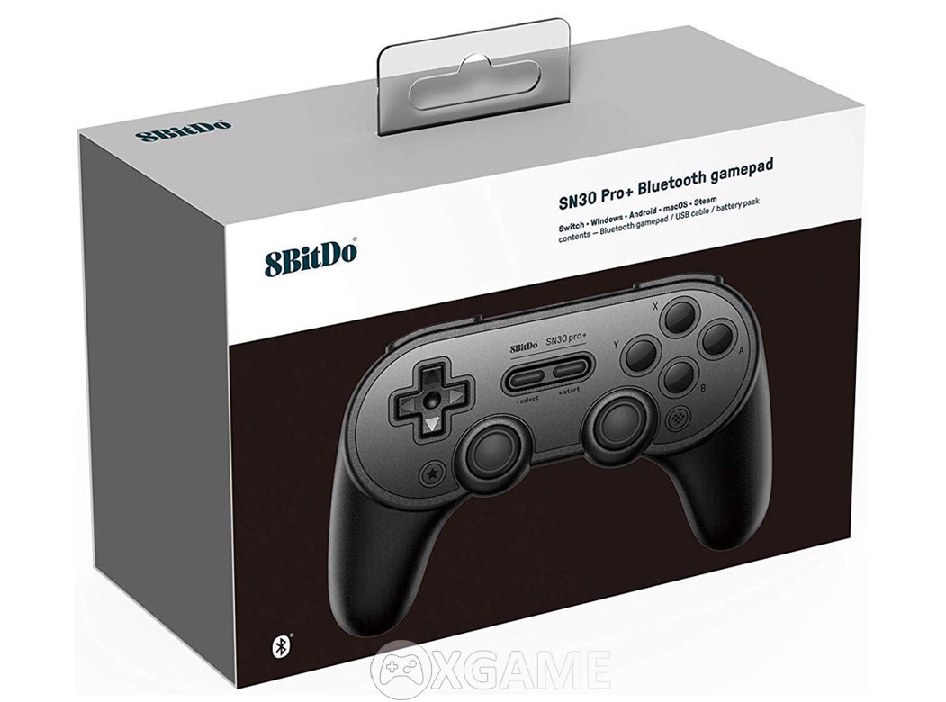 Tay cầm 8Bitdo SN30PRO+Bluetooth Gamepad-Black Edition