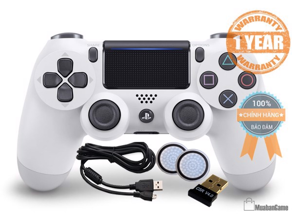 Tay PS4 - DS4 Glacier White [Sony VN] COMBO