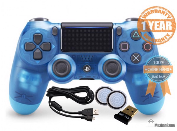 Tay PS4 - DS4 Blue Crystal [Sony VN] COMBO