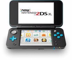 Máy NEW 2DS LL [Black and Turquoise] Tray +16gb