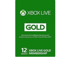 Thẻ Xbox Live 12 month Gold Membership Card - US