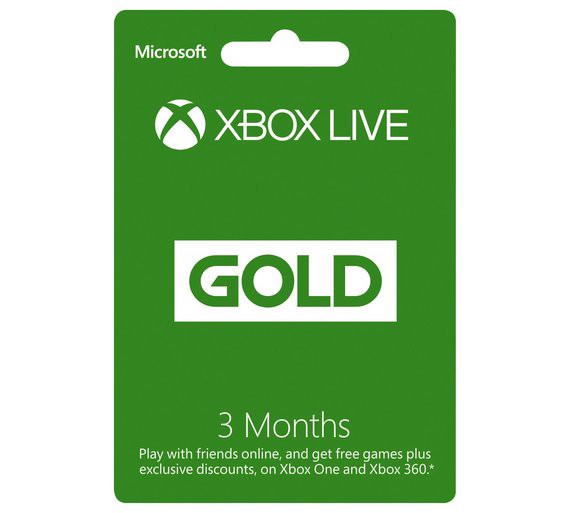 Thẻ Xbox Live 3 month Gold Membership Card - US