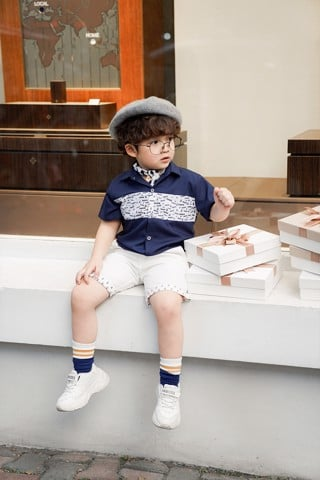 Quần short kaki bé trai Rabity x ELLE Kids- designed in Paris 80013