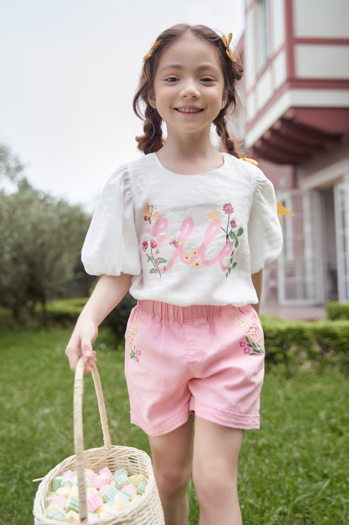Quần short bé gái Rabity x ELLE Kids- designed in Paris  81019