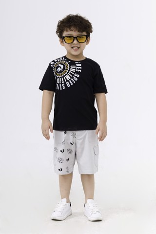 Quần short kaki bé trai Rabity x ELLE Kids- designed in Paris 80036