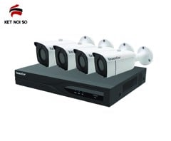 Bộ KIT IP PoE 3MP 4 kênh (KIT/2204L-P4/4*2430RA-P)