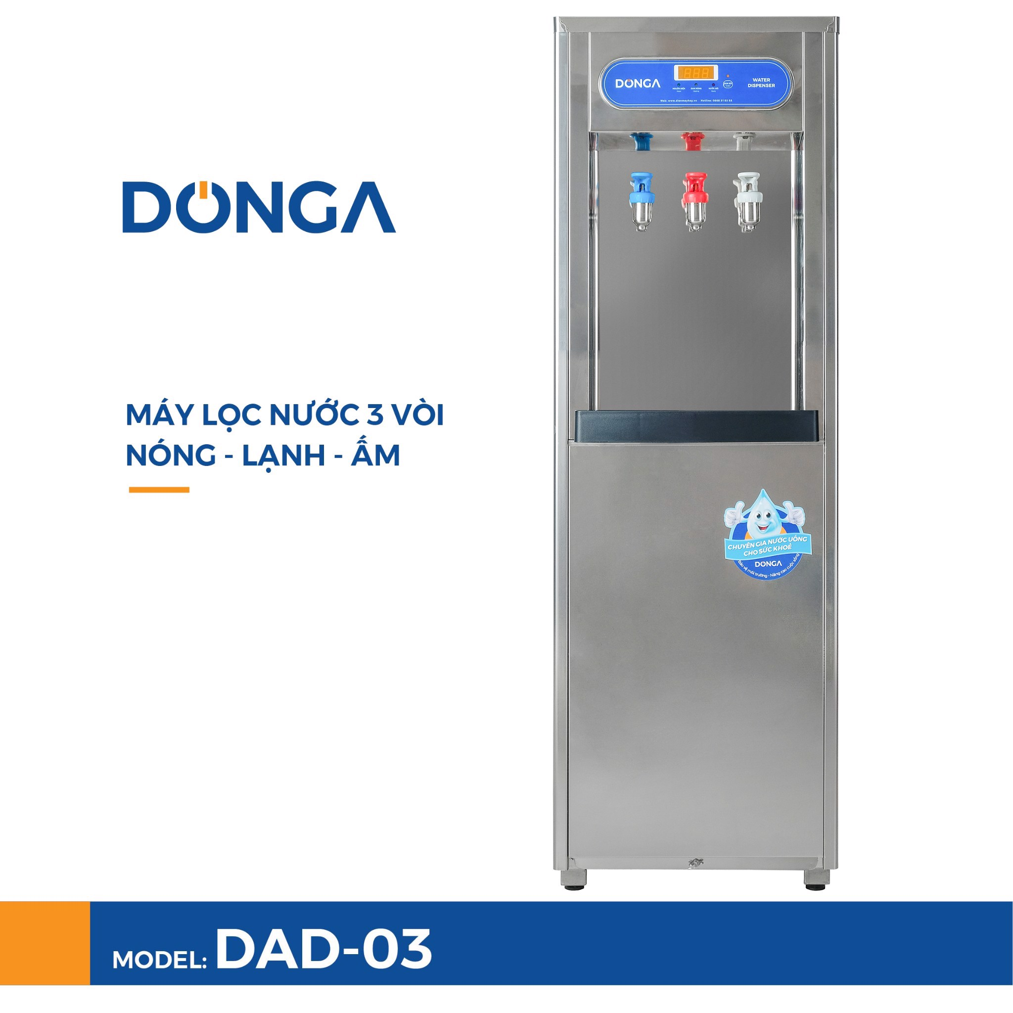 may loc nuoc 3 voi nong lanh am donga dad 03