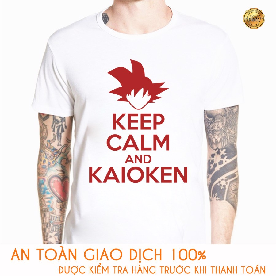 Áo thun Nam Dragon Ball Songoku Keep Calm - M172