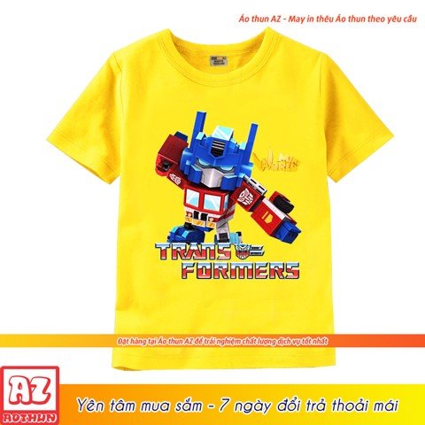 Áo thun trẻ em in hình Mini World Transformer Optimus Prime M2628