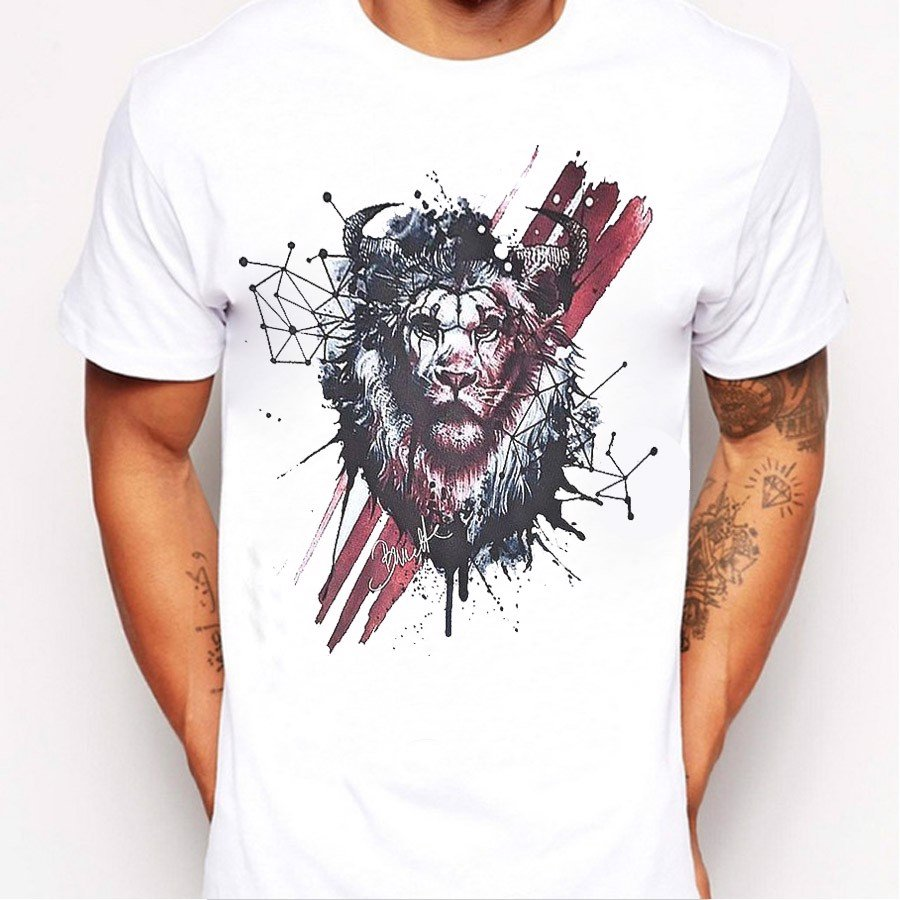 Áo Thun Nam Lion Design (Custom T-Shirt) M63