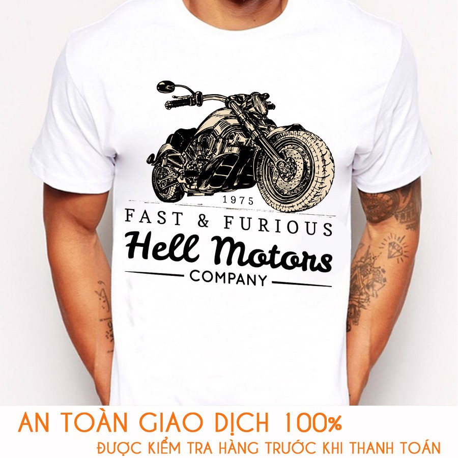 Áo thun nam RACING TEAM  HELL MOTORS - M773