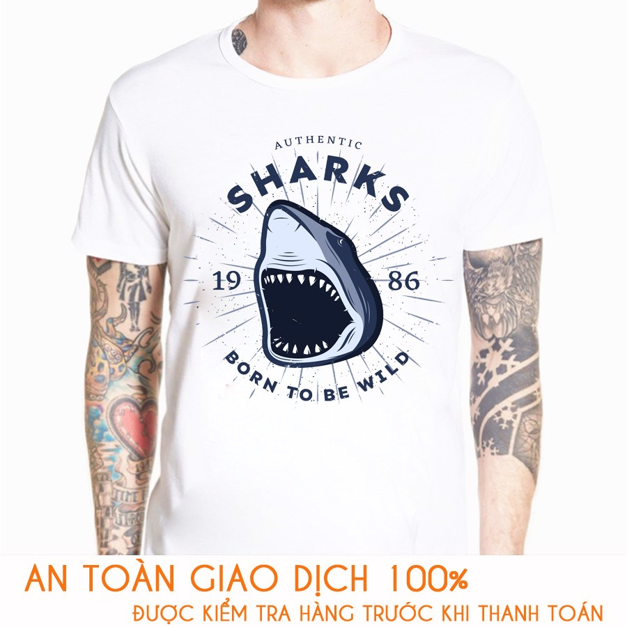 Áo thun nam RACING TEAM  SHARKS - M774