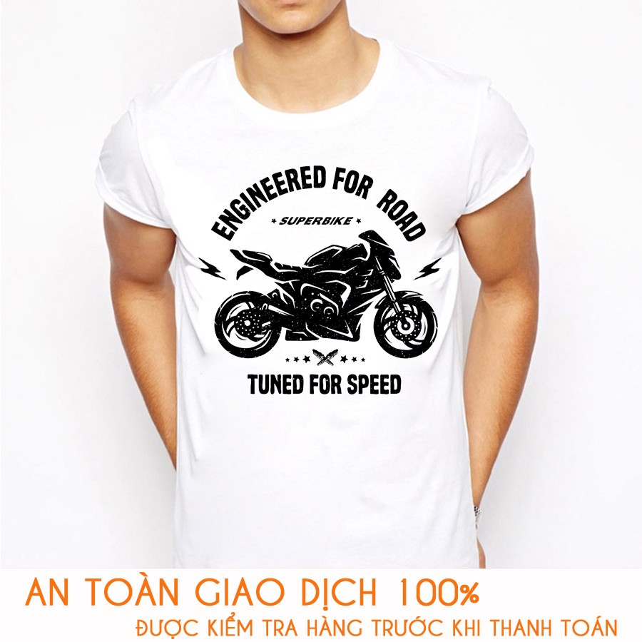 Áo thun nam RACING TEAM TUNED FOR SPEED - M779