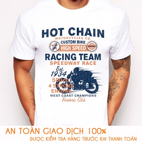 Áo thun nam RACING TEAM HOT CHAIN - M782