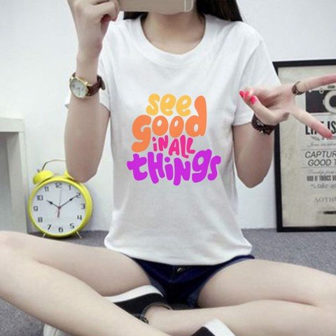 Áo thun nữ Slogan See Good In All Thing - M95