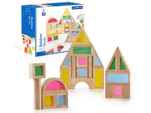 Rainbow Blocks - 30 pc. Set - G3016