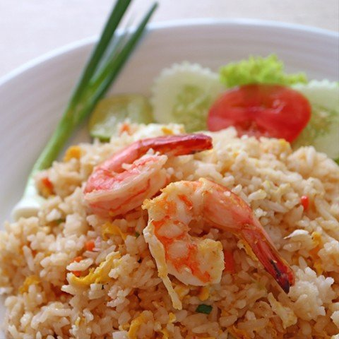 ข้าวผัดกุ้ง <br>Cơm chiên tôm <br> Fried rice with shrimp