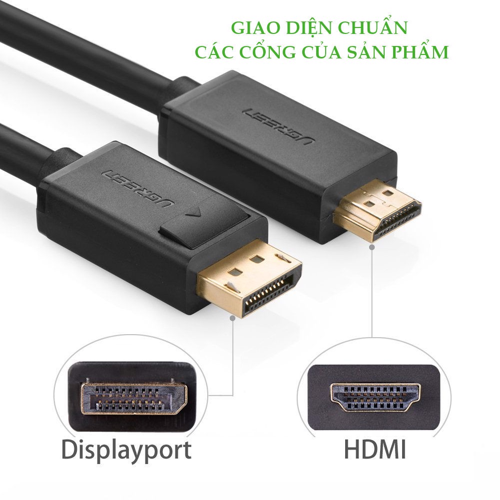 CABLE UGREEN DISPLAYPORT TO HDMI 1.5M 10239