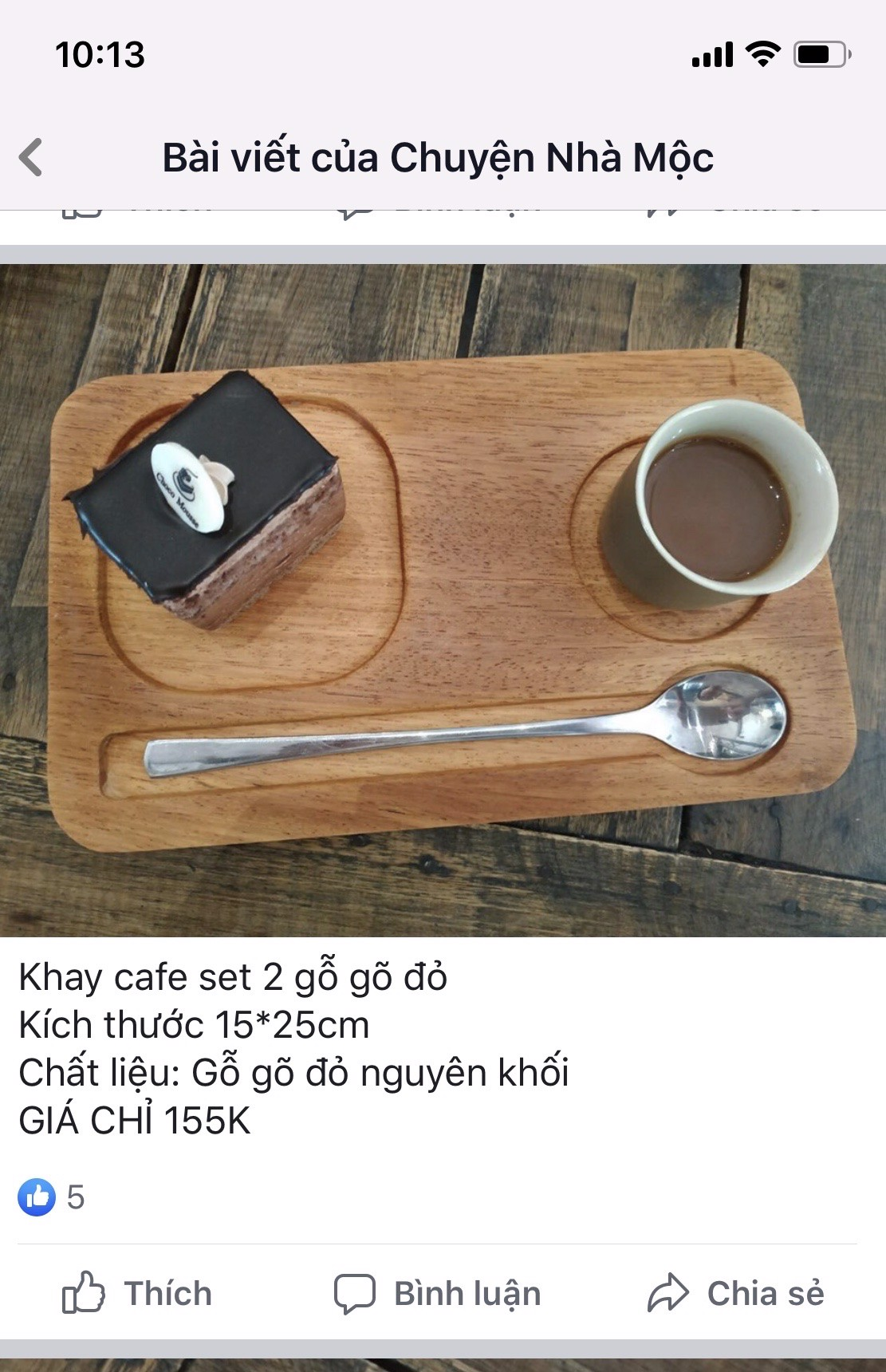 Khay cafe set 2