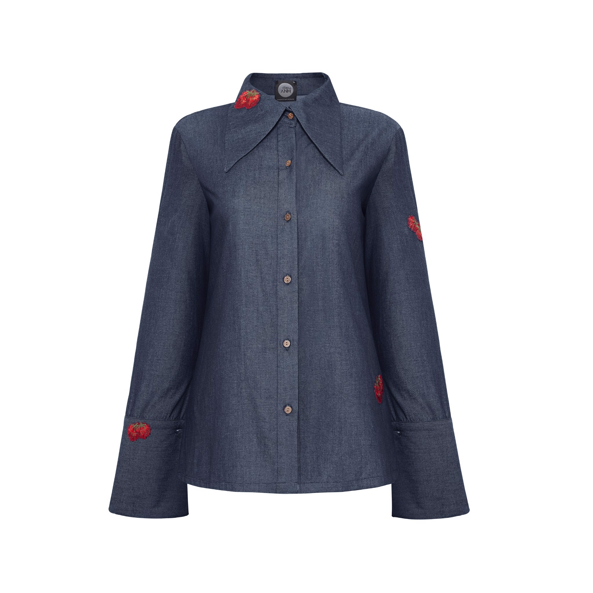 Navy Cotton Denim Shirt
