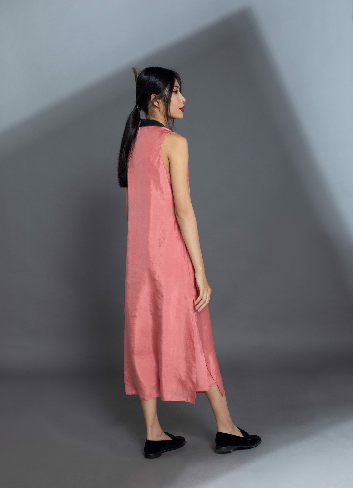 HABOTAI SILK MAXI DRESS/PINK
