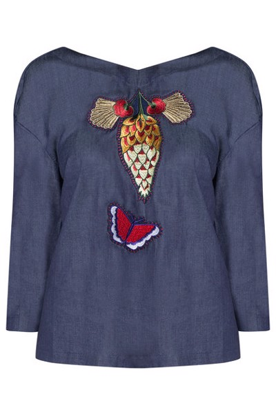 BUTTERFLY EMBROIDERY BLOUSE
