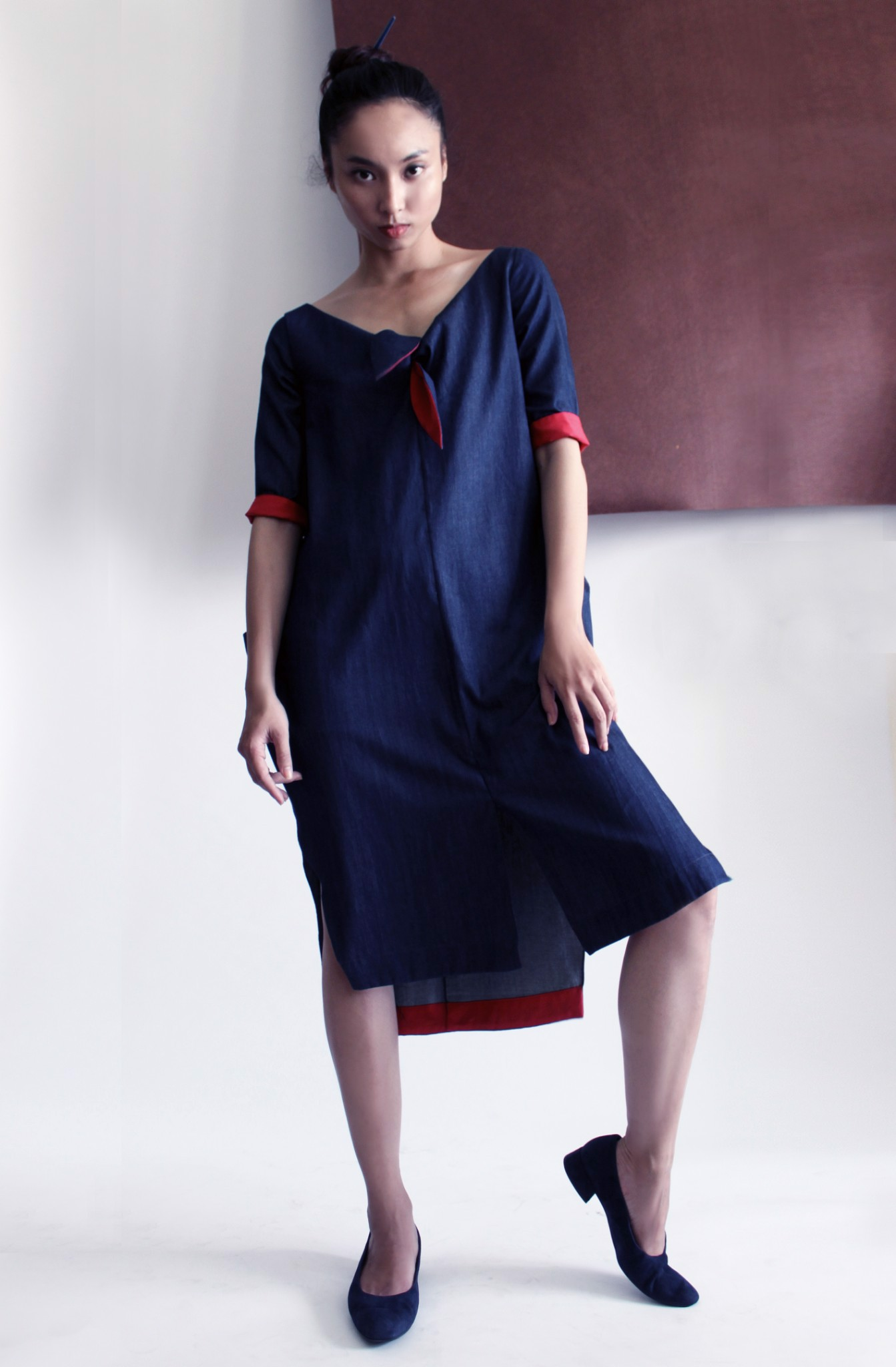 OVERSIZE BAGGY DRESS (COLOUR: UMBER GREEN)