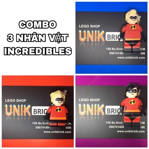 LEGO Disney COMBO Incredibles 3 Minifigures
