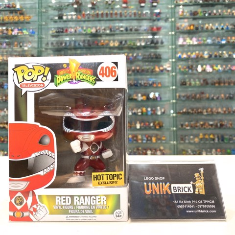 FUNKO POP Power Rangers 406 Red Ranger