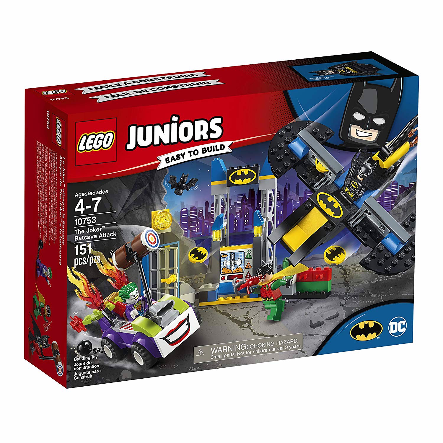 LEGO Juniors/4+ DC Super Heroes 10753 The Joker Batcave Attack