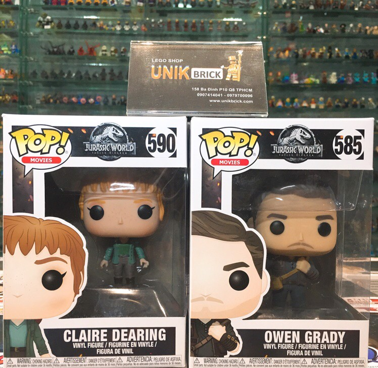 FUNKO POP Jurassic World COMBO 590 Claire Dearing and 585 Owen Grady