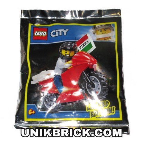 [CÓ HÀNG] LEGO City 951909 Pizza Delivery Guy Foil Pack Polybag