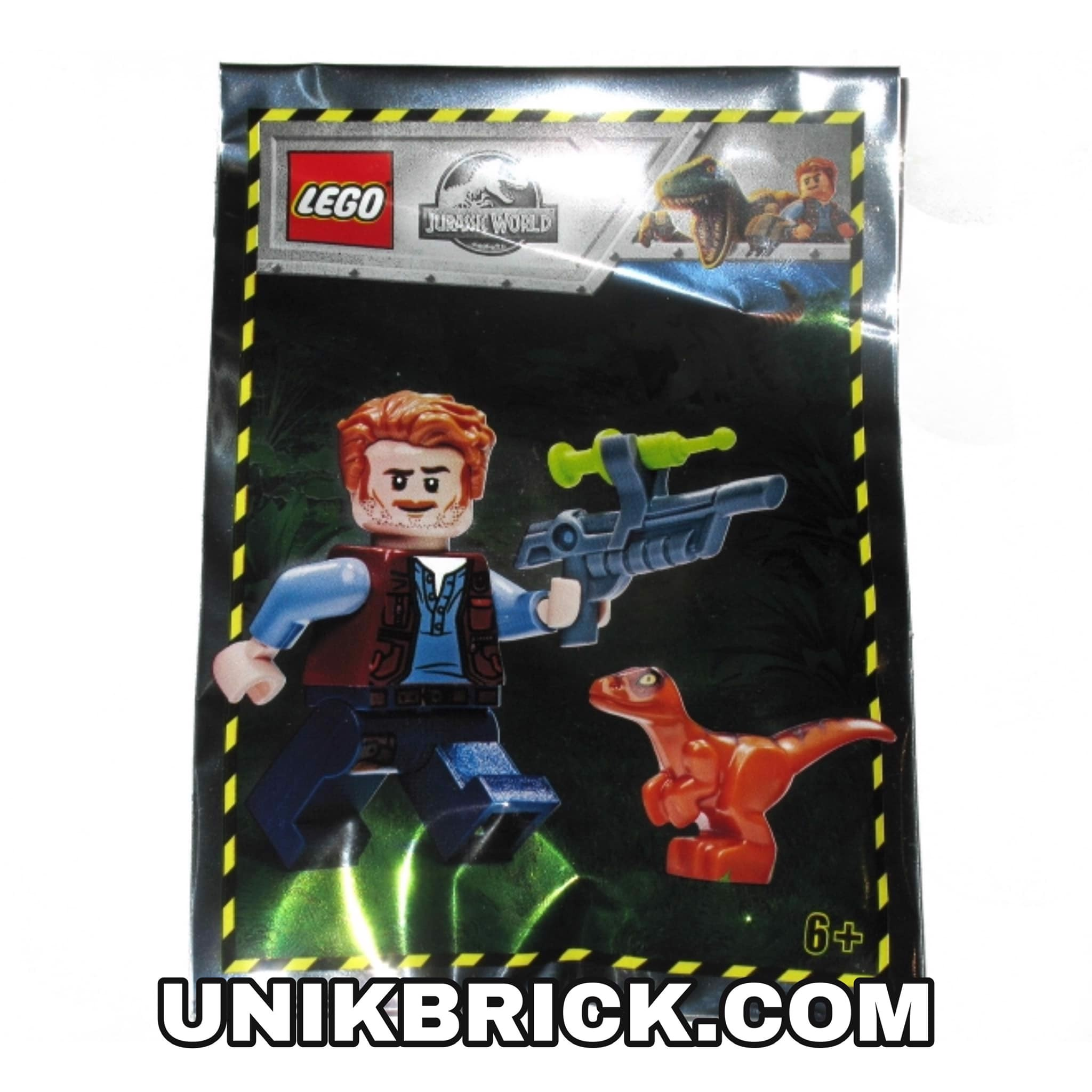 [CÓ HÀNG] LEGO Jurassic World 121904 Owen with baby raptor Foil Pack Polybag