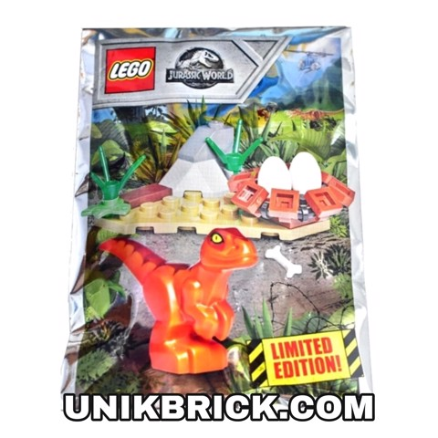 [CÓ HÀNG] LEGO Jurassic World 121801 Baby raptor and nest Foil Pack Polybag