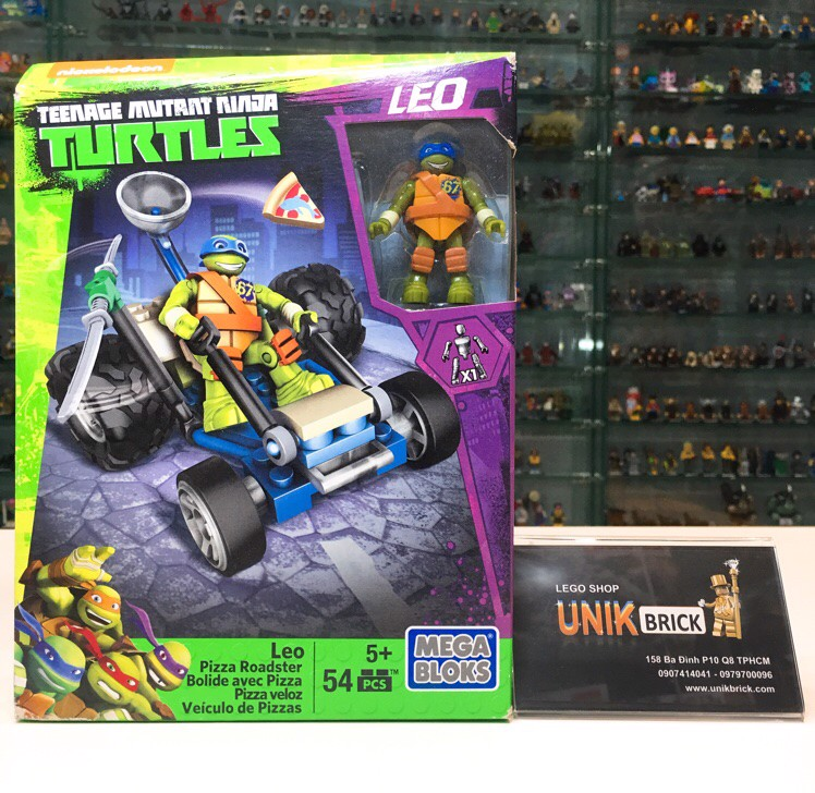 MEGA BLOKS Ninja Turtles Leo Pizza Roadster