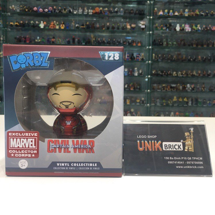 FUNKO DORBZ Civil War 128 Iron Man Unmasked