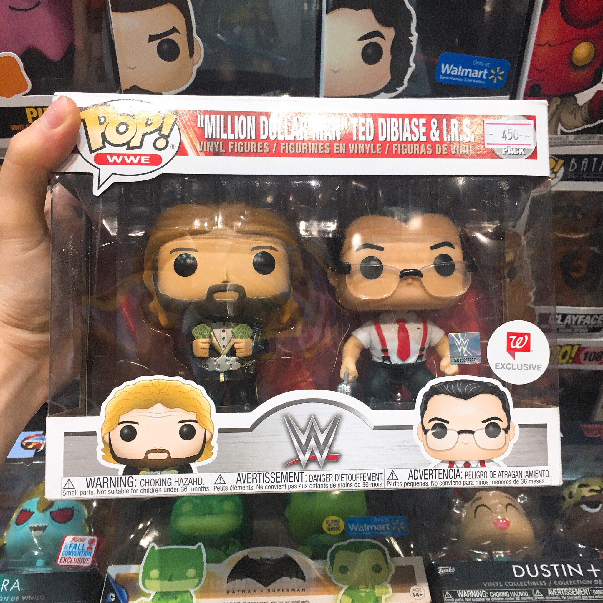 [CÓ SẴN] FUNKO POP 2 Pack WWE Million Dollar Man Ted Dibiase & IRS