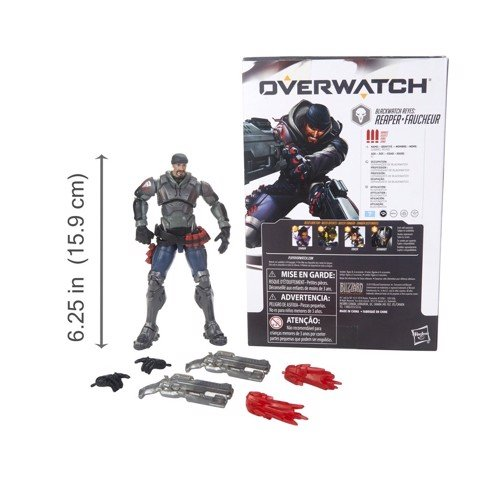 [CÓ HÀNG] Hasbro Overwatch Ultimates 6 Inch Reaper Faucheur Blackwatch Reyes Action Figure