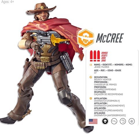 [CÓ HÀNG] Hasbro Overwatch Ultimates McCree 6 Inch Action Figure