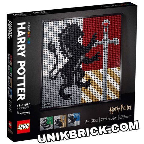 [HÀNG ĐẶT/ ORDER] LEGO Art 31201 Harry Potter Hogwarts Crests